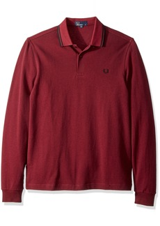 Fred Perry Men's Ls Twin Tipped Shirt Claret MAHOG OXF