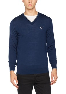 Fred Perry Men's Merino Tipped V-Neck Sweater