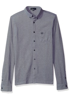 Fred Perry Men's Oxford Pique Long Sleeve Shirt