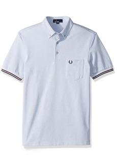 Fred Perry Men's Oxford Pique Shirt White Smoke OXF