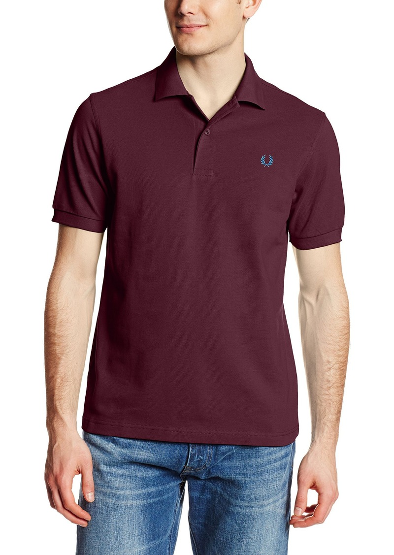 Fred perry fred perry men 39 s plain polo shirt casual for Fred perry mens shirts sale