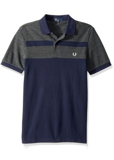 Fred Perry Men's Stripe Panel Pique Shirt