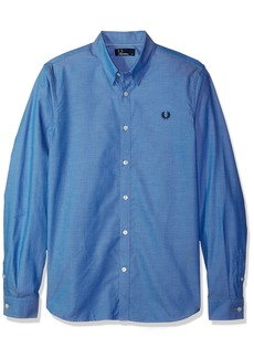 Fred Perry Men's Tape Detail Shirt mid Blue