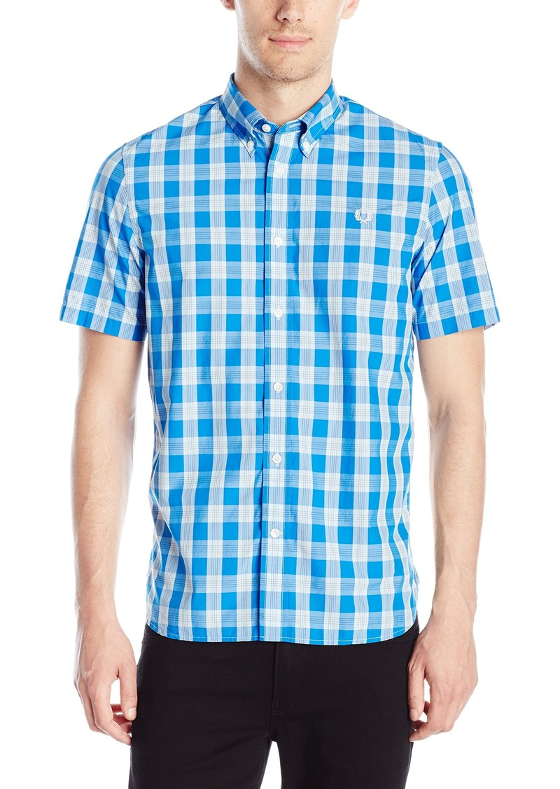 Fred perry fred perry men 39 s tartan gingham mix shirt large for Fred perry mens shirts sale