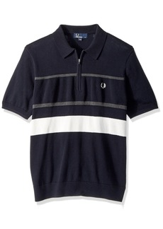 Fred Perry Men's Textured Zip Nk Knitted Shirt