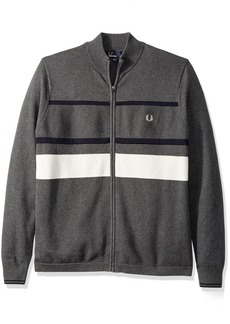 Fred Perry Men's Textured Zip Thru Cardigan