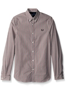 Fred Perry Men's Three-Colour Basketweave Shirt