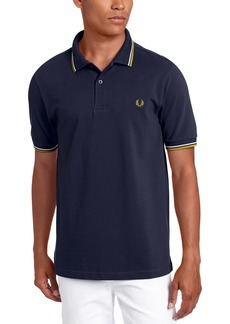 Fred Perry Men's Twin Tipped Polo Shirt-M3600 DarkAirforce/Ecru