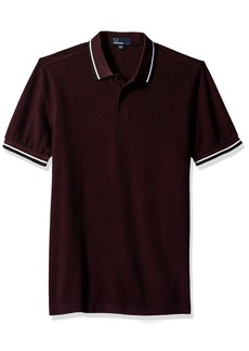 Fred Perry Men's Twin Tipped Shirt-M3600 Mahogany Blk OXF
