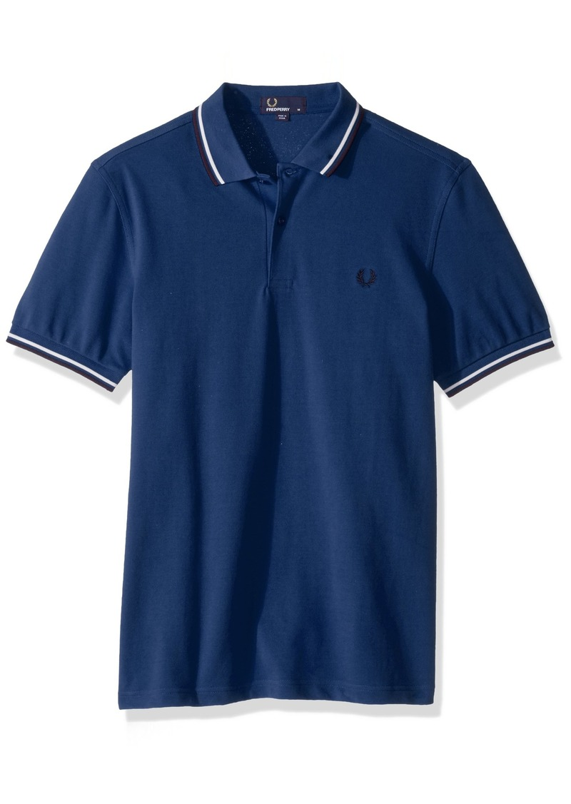 Fred Perry Men's Twin Tipped Shirt Prince Carbon ox