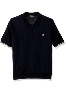 Fred Perry Men's Zip Neck Knitted Shirt