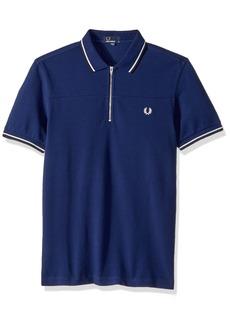 Fred Perry Men's Zip Neck Pique Shirt