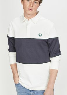 Fred Perry Paneled Long Sleeve Rugby Shirt