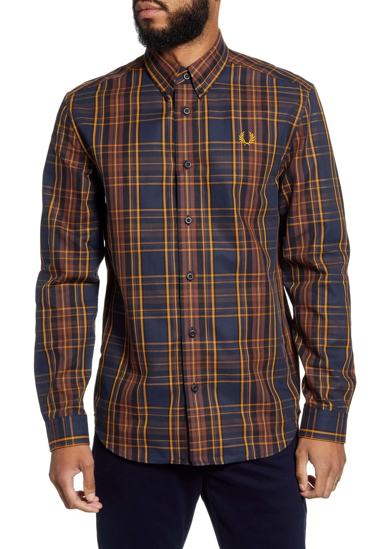 Fred Perry Regular Fit Plaid Button-Down Shirt