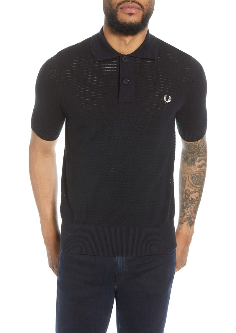 Fred Perry Short Sleeve Pointelle Knit Polo