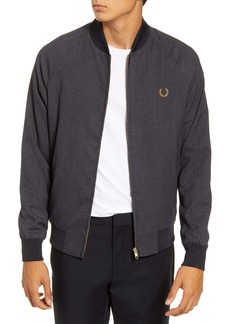 Fred Perry Slim Fit Houndstooth Bomber Jacket
