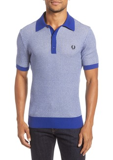 Fred Perry Slim Fit Textured Sweater Polo