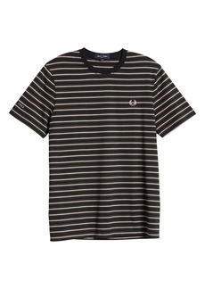 Fred Perry Stripe Embroidered Logo Men's T-Shirt