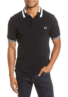 Fred Perry Tipped Cotton Polo Shirt