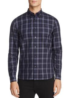 Fred Perry Winter Tartan Long Sleeve Regular Fit Button-Down Shirt
