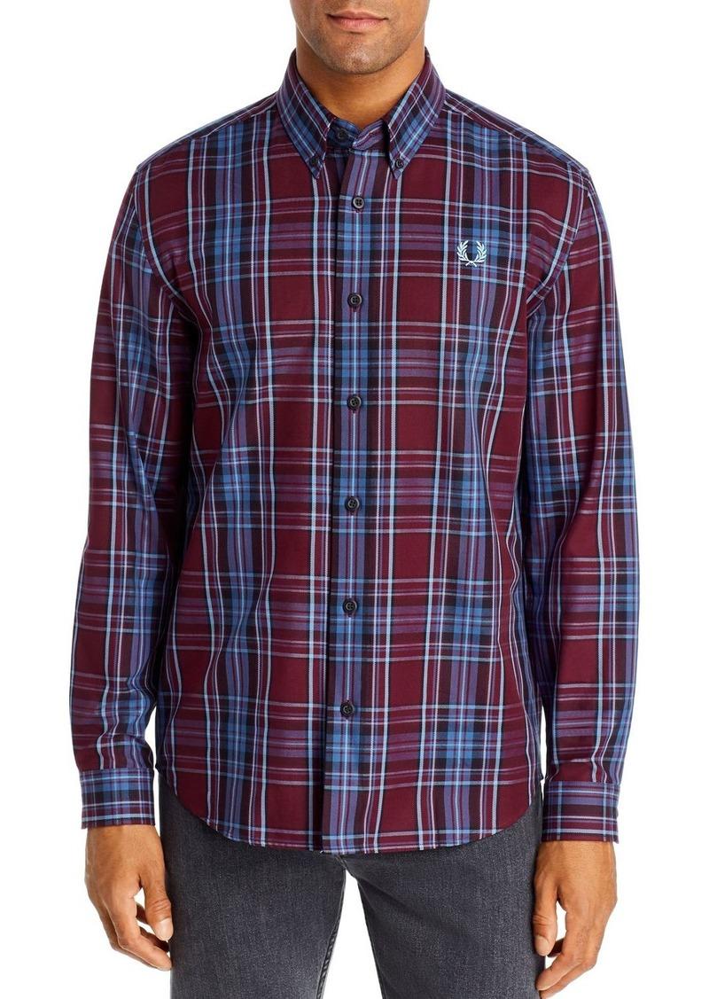 Fred Perry Winter Tartan Regular Fit Button-Down Shirt