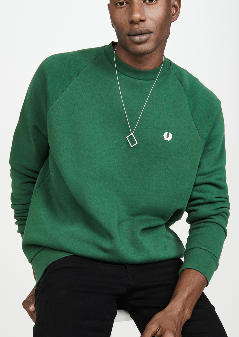 Fred Perry Winter Training Laurel Wreath Crew Neck Sweatshirt