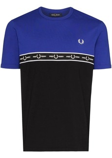 Fred Perry logo colour block T-shirt