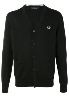 Fred Perry logo-embroidered cardigan