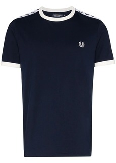 Fred Perry logo-embroidered cotton T-shirt