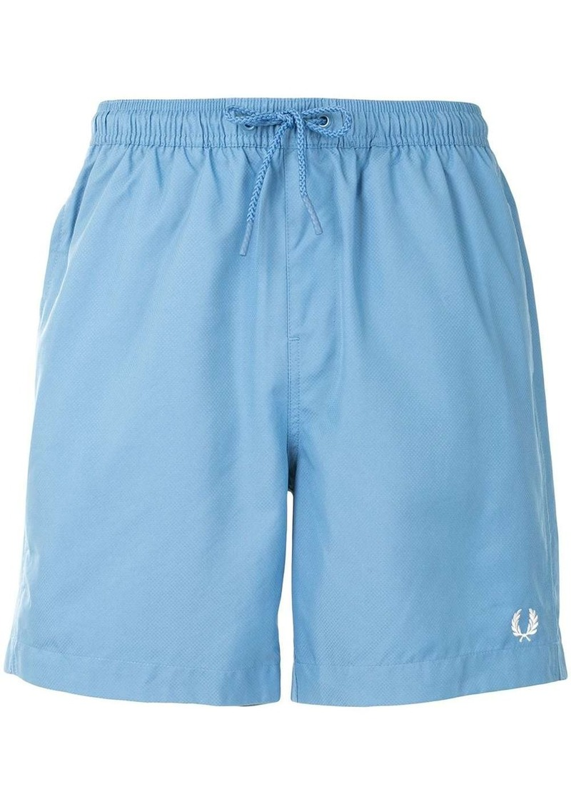 Fred Perry logo swim shorts