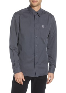 Fred Perry Slim Fit Button-Up Twill Shirt