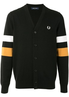 Fred Perry stripe-detail cardigan