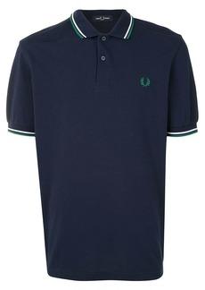 Fred Perry stripe-trim logo polo shirt