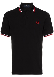 Fred Perry contrast-tipped logo-embroidered polo shirt