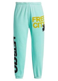 Free City Let's Go Logo Standard-Fit Sweatpants