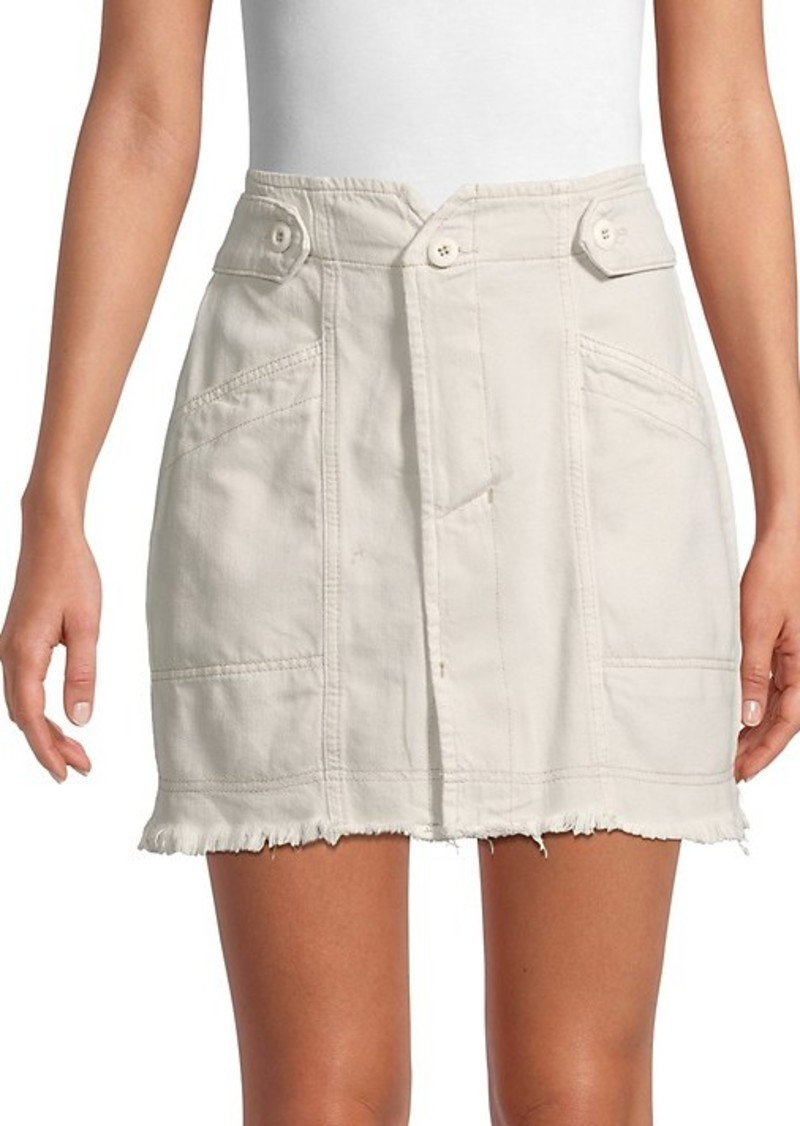 Free People Alpha Utility Raw-Edge Skirt