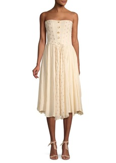Free People Amanda Strapless Midi Dress