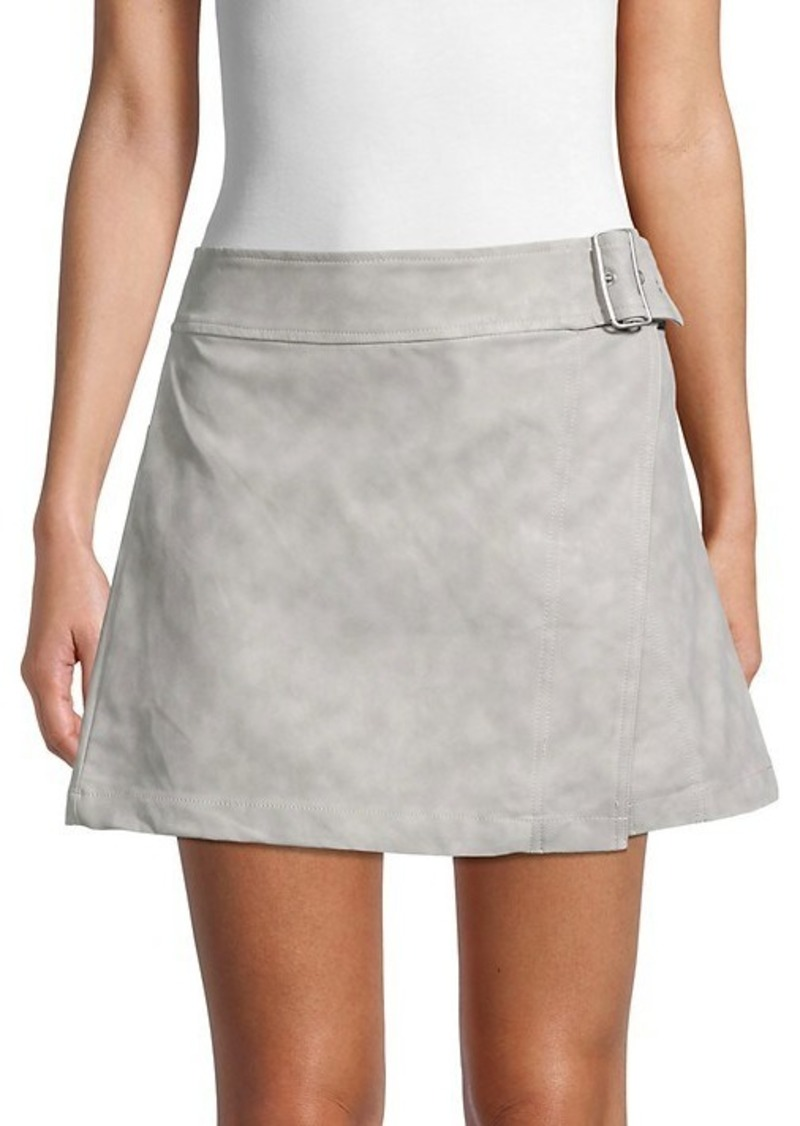 Free People Ari Faux Leather Wrap Skirt