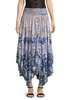 Free People Asymmetrical Smocked Skirt
