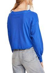 Free People Austin Dolman Sleeve Cropped T-Shirt