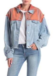 Free People Baja Hooded Denim Jacket
