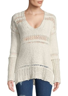 Free People Belong-to-You Cotton Sweater