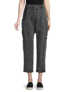 Free People Belted Cropped Jeans