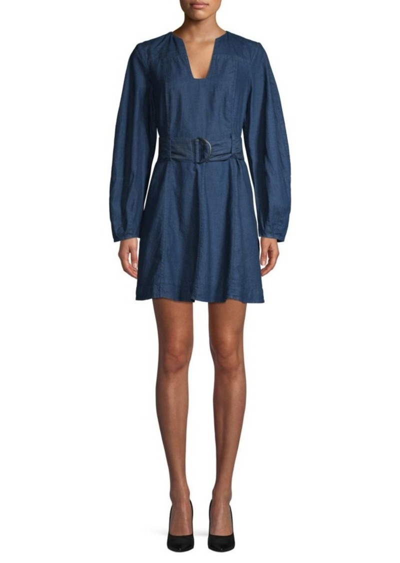 Free People Belted Denim Shift Dress