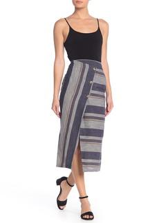 Free People Big Sur Stripe Midi Skirt