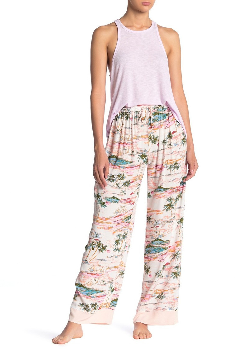 Free People Blue Lagoon Print Pants