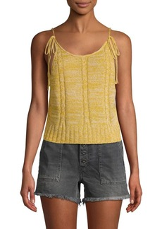 Free People Bombshell Deep Scoop Back Knit Tank