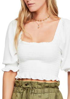 Free People Brenyce Smocked Crop Top