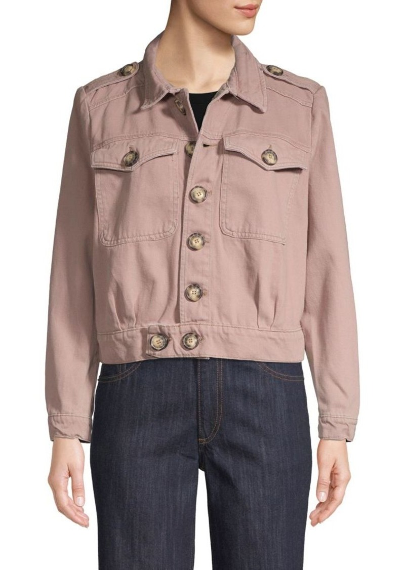 Free People Button-Front Denim Jacket