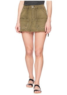 Free People Canvas Relaxed Mini Skirt